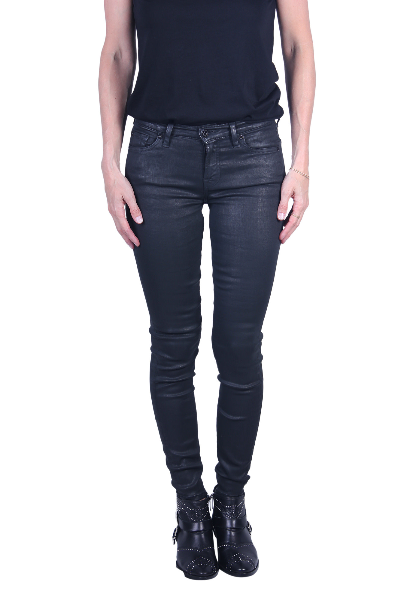 Broek 7 For All Mankind THE SKINNY Coated Slim Illusion-1