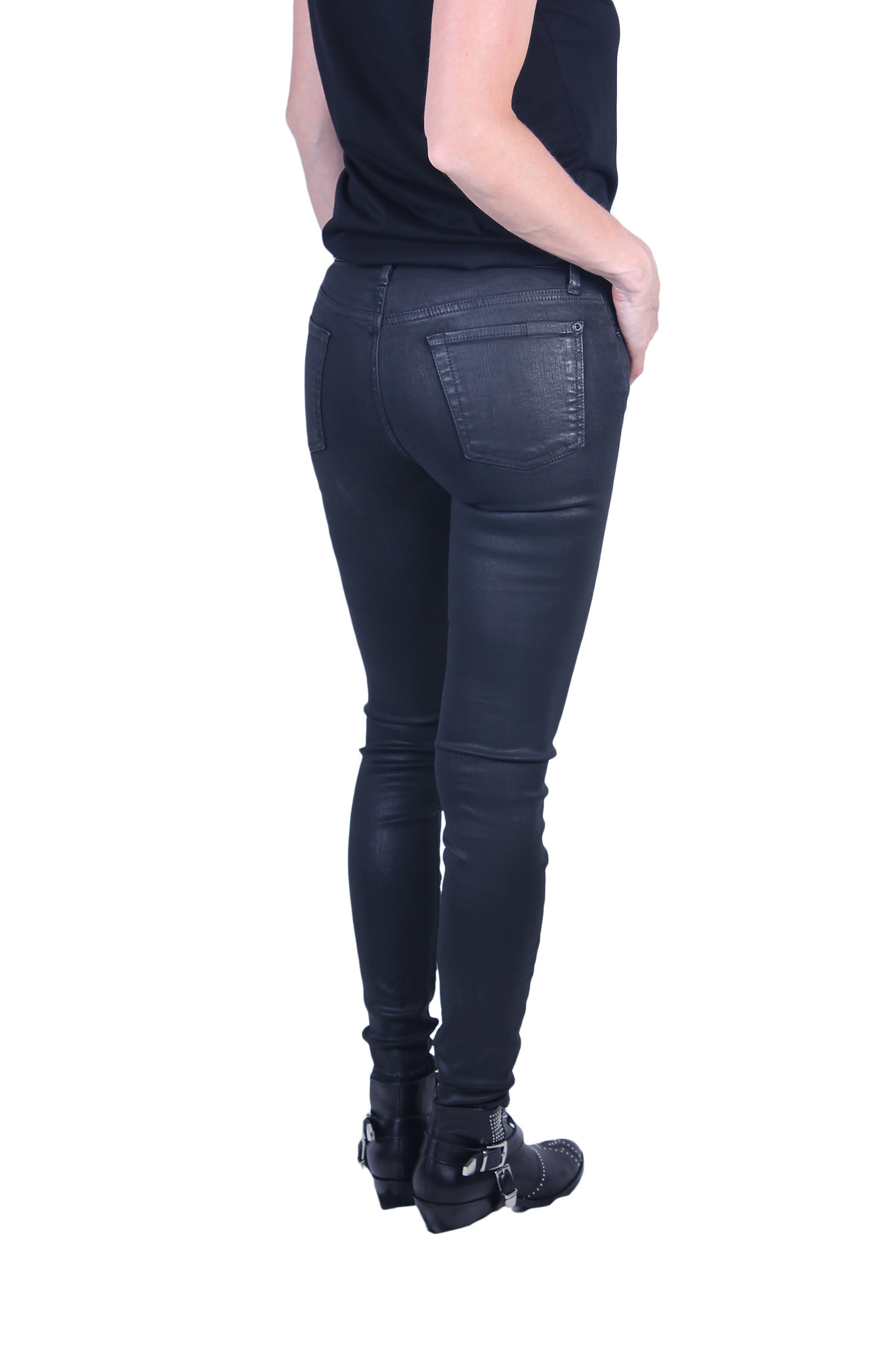 Broek 7 For All Mankind THE SKINNY Coated Slim Illusion-3