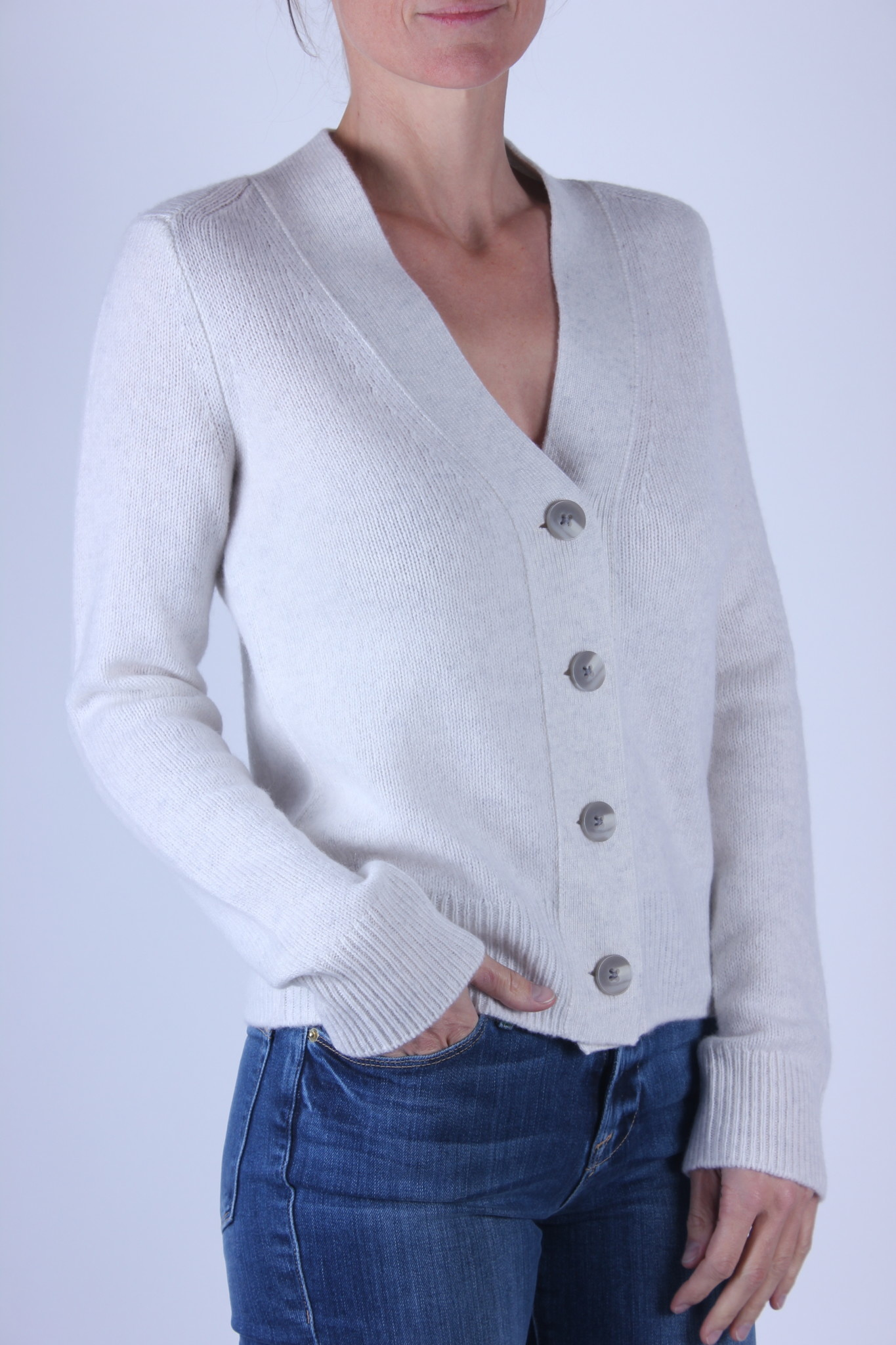 Vince SHRUNKEN BUTTON CARDIGAN-2