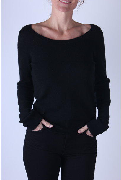 Vince DBL SCOOP NECK PULLOVER