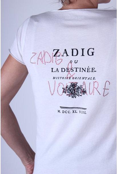 T-shirt Z&V TUNISIEN MC DESTINEE STRASS COTON