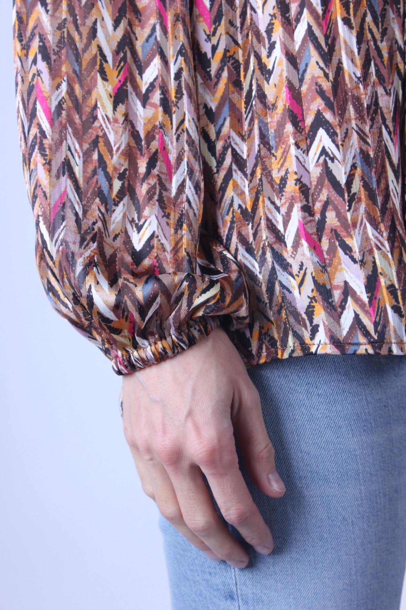 Dante6 June printed chevron blouse-3