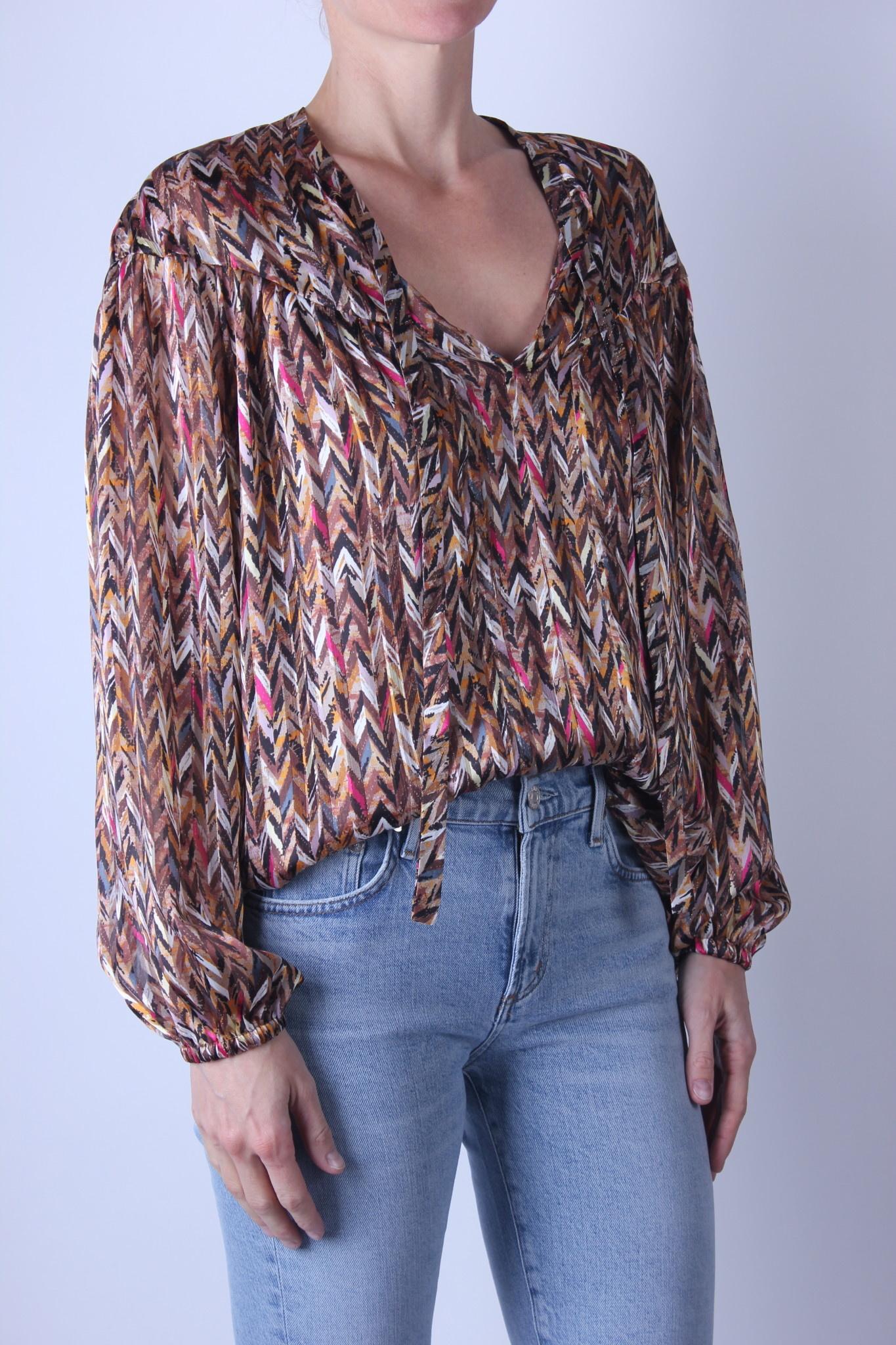 Dante6 June printed chevron blouse-1