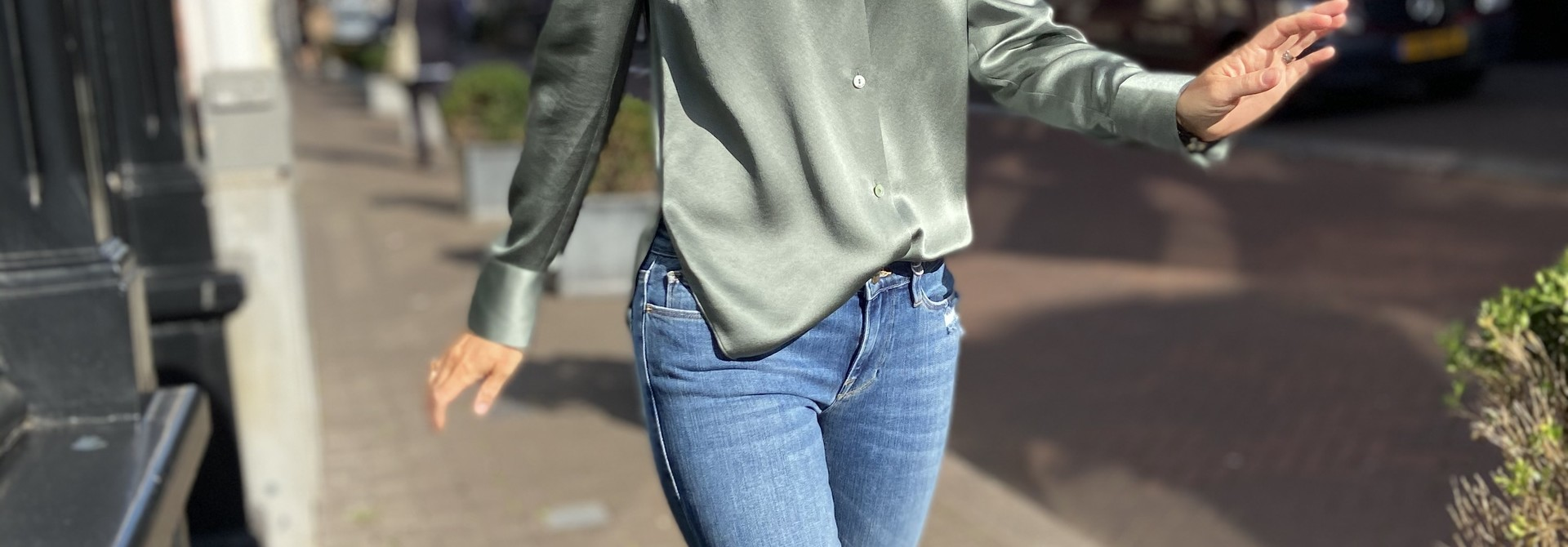 Shaped Collar Blouse
