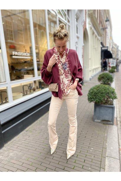 Flare velvet broek Billie