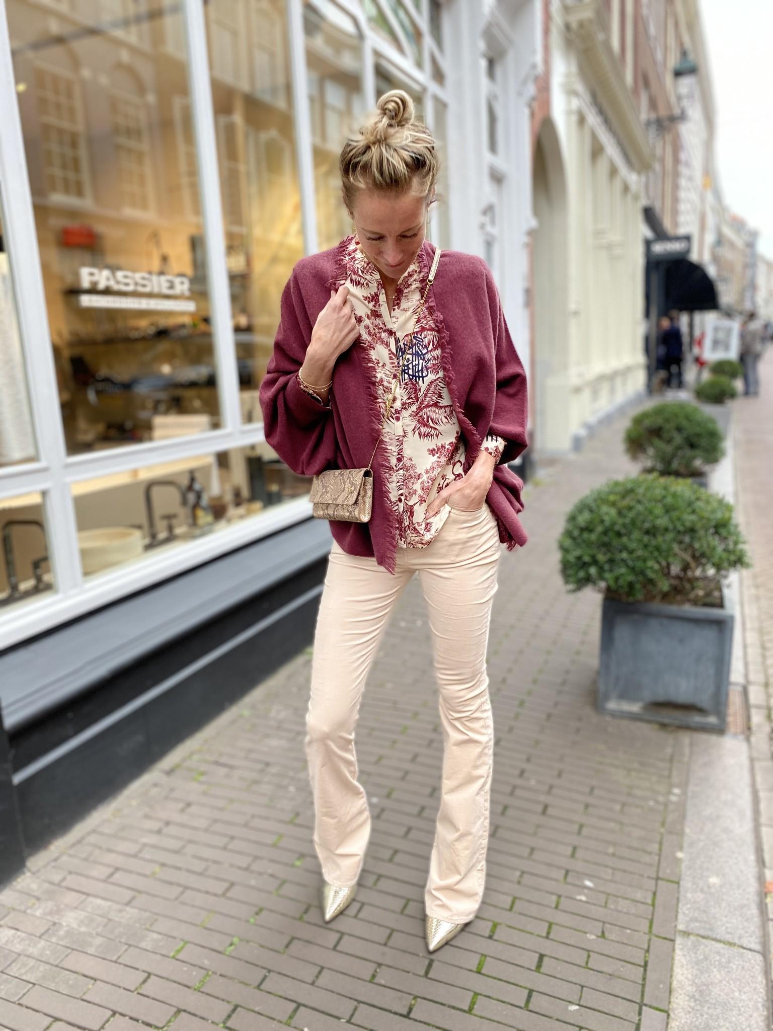Flare velvet broek Billie-1