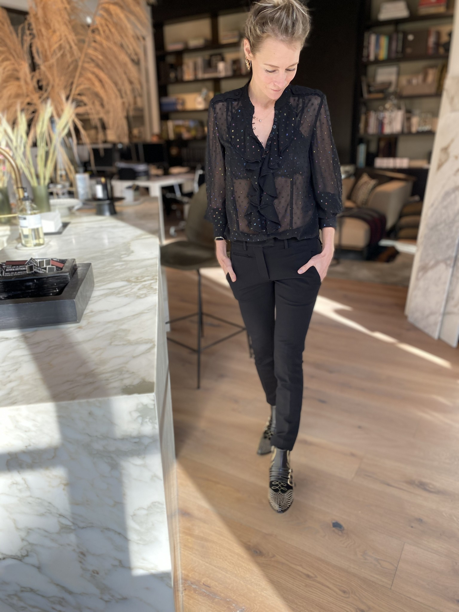 Pantalon zwart-1