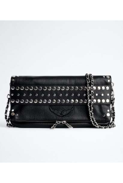 Tasje ZV ROCK STRAP GRAINED LEATHER + STUDS OUTLINE
