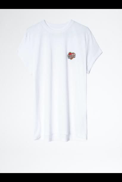 T-shirt ZOE SMALL HEART (verkrijgbaar in 3 kleuren)