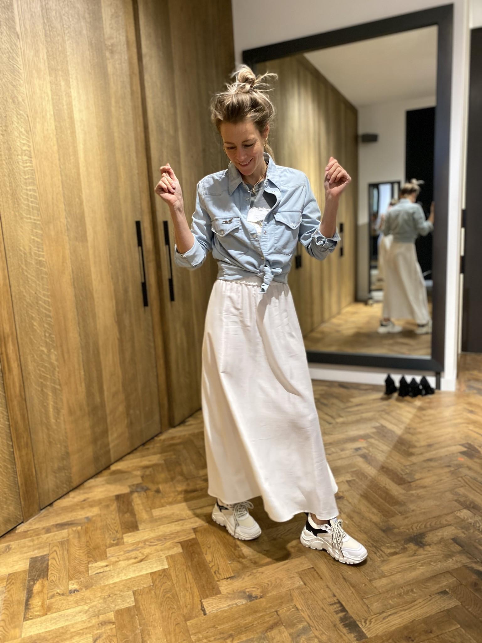 Denim blouse THELMA-1