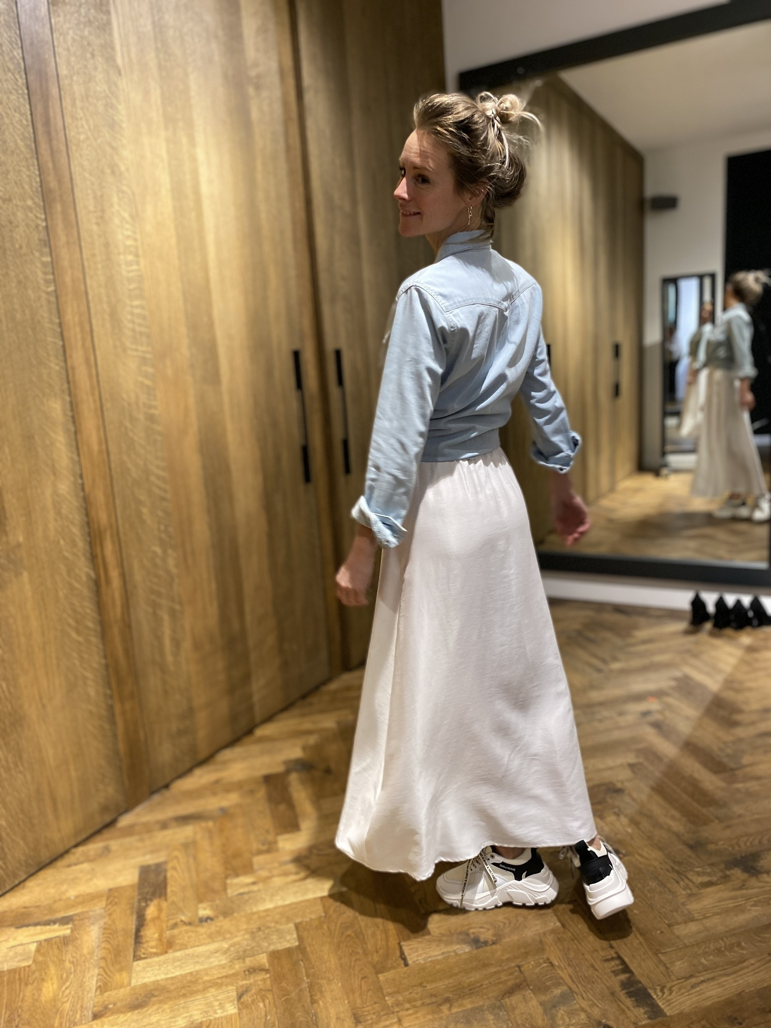 Denim blouse THELMA-2