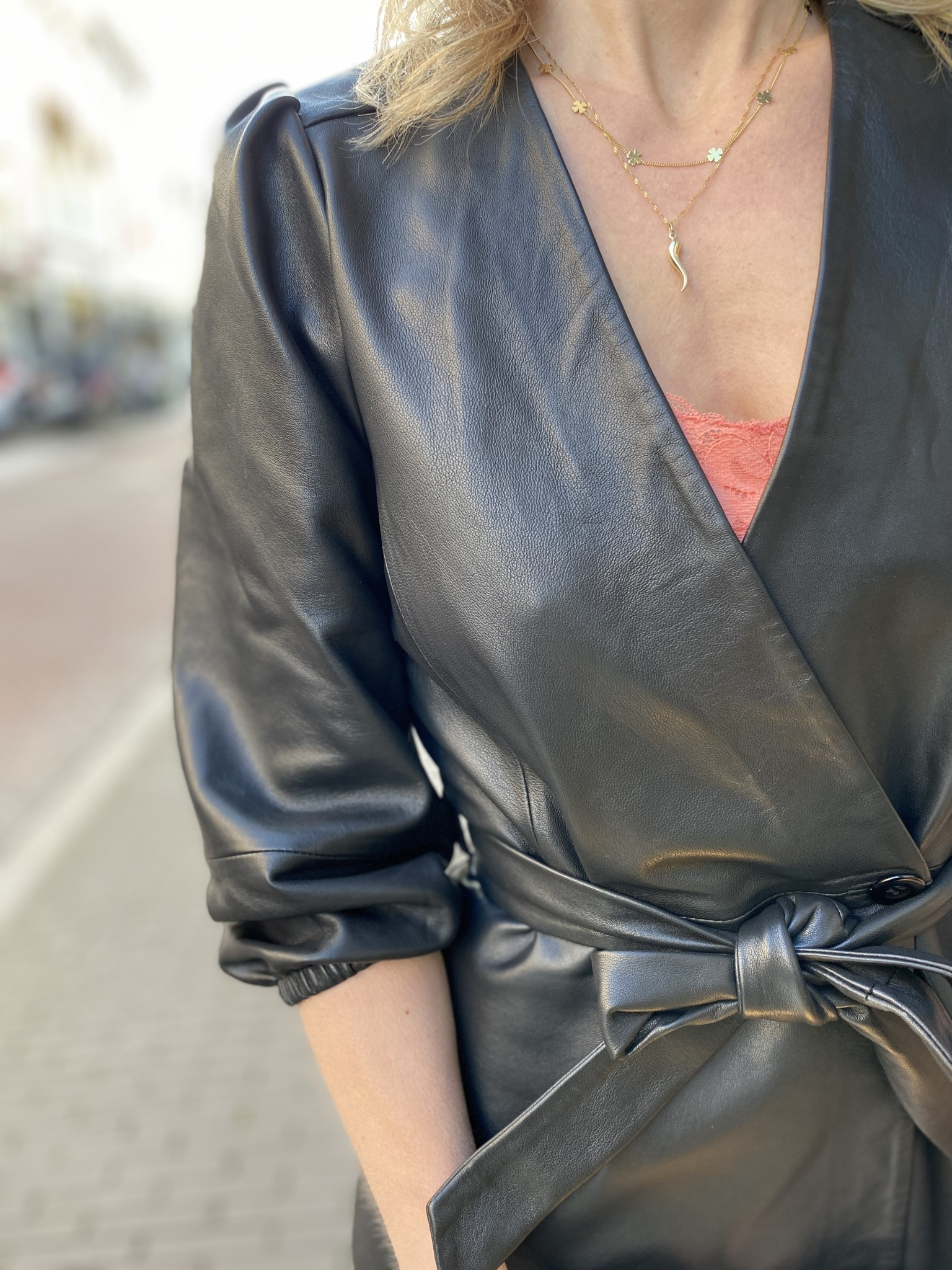 Jurk Desire leather-2