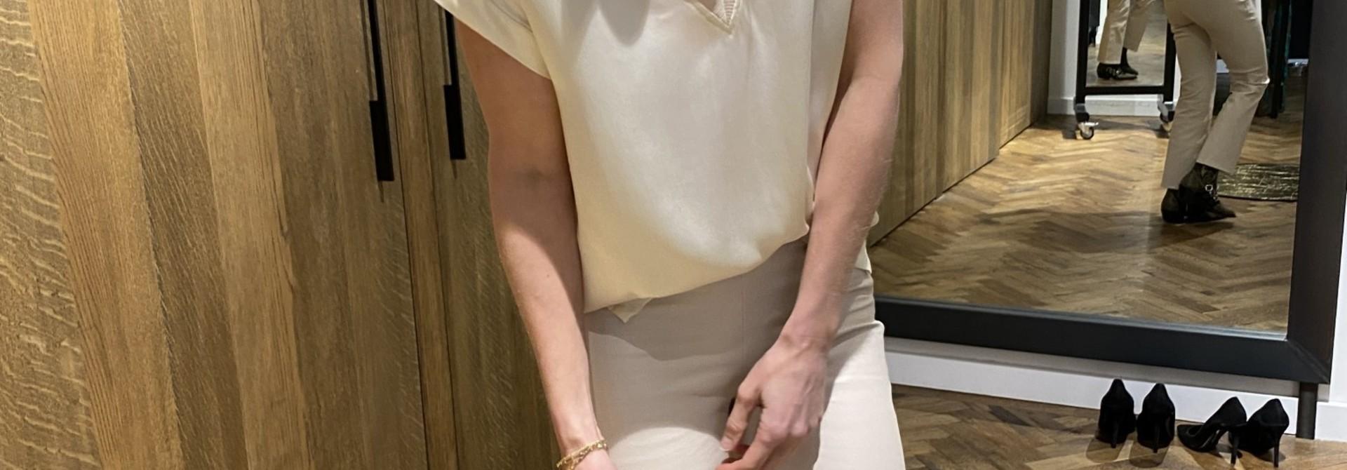 Top Odette stretch silk