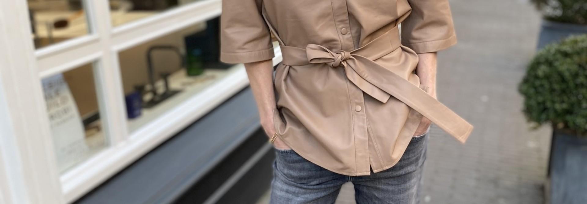 Blouse Boho leather