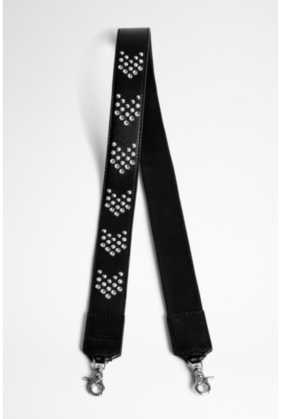 Bag Strap GRAINED LEATHER + ARROW STUDS
