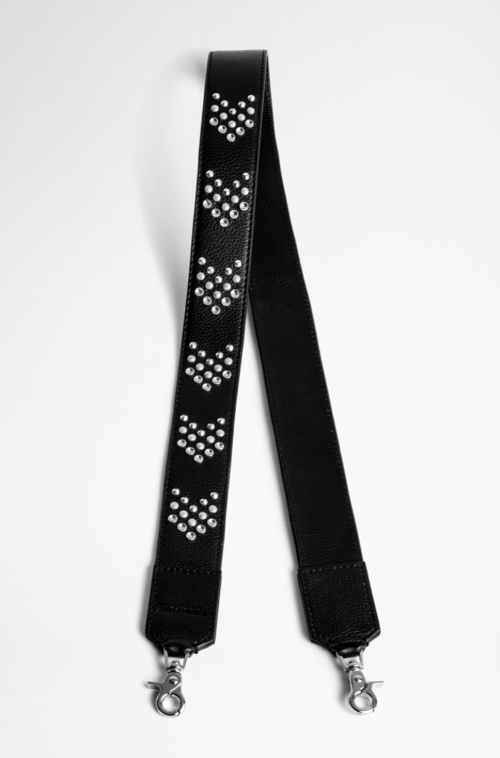 Bag Strap GRAINED LEATHER + ARROW STUDS-1