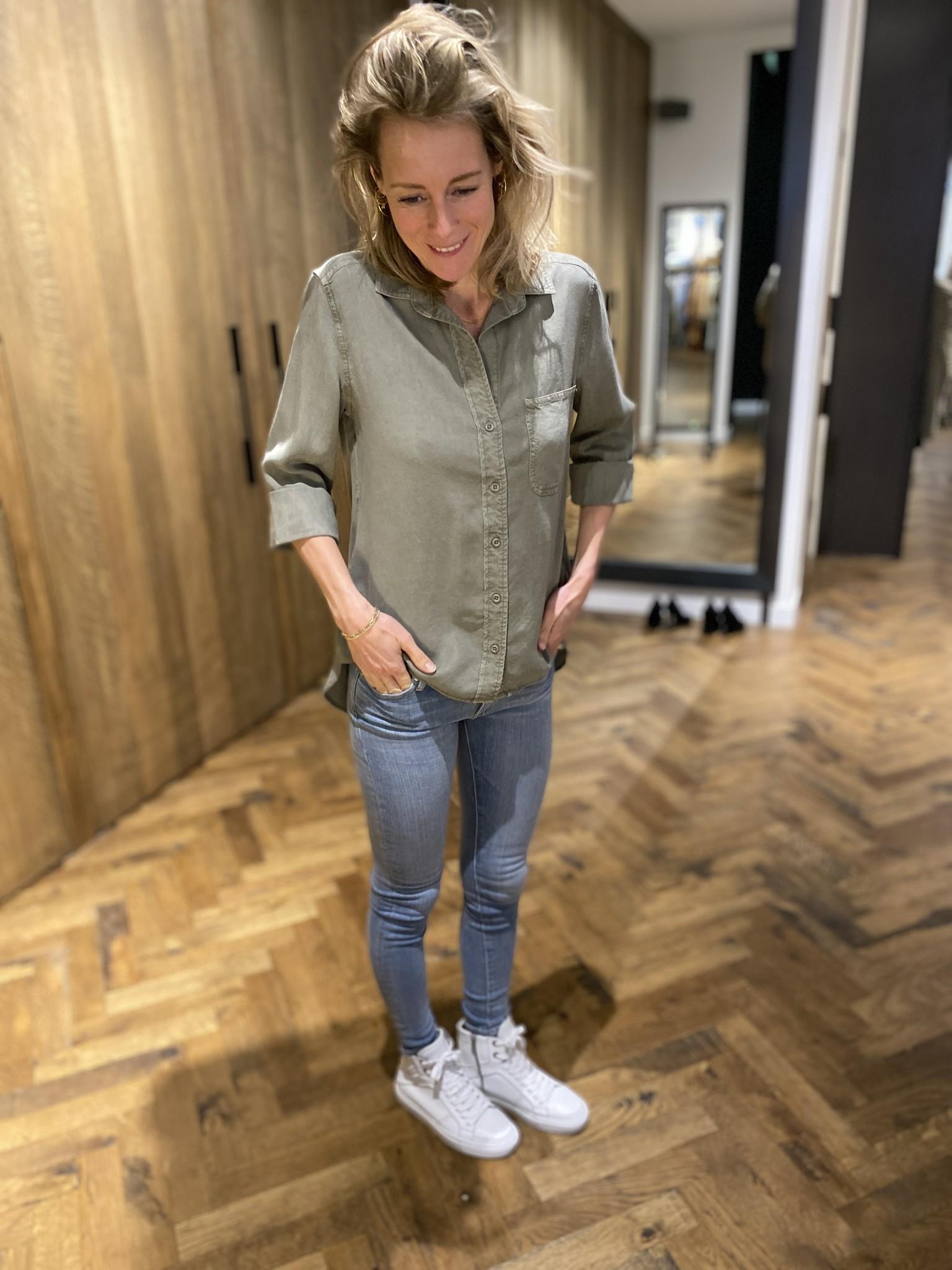 Shirt tail button down-5
