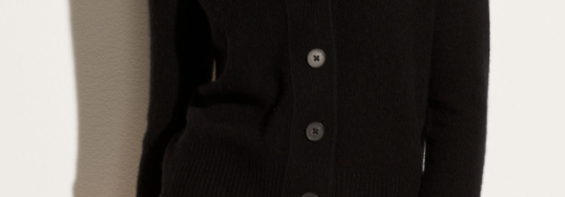 Shrunken Button Cardigan
