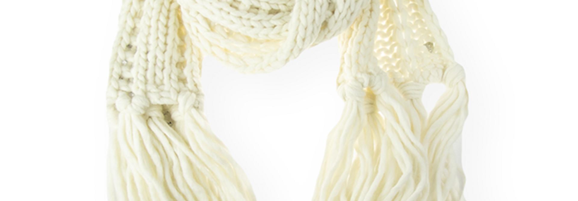 Dondup WK254 Y00502D sjaal creme