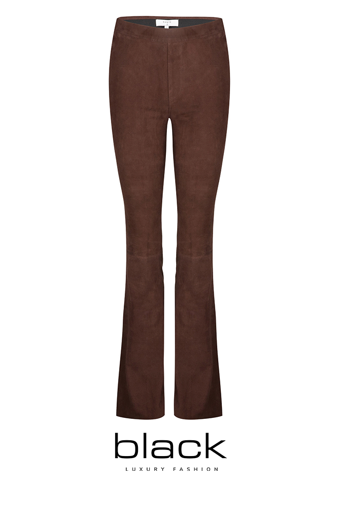 Dante6 Dollmann flare suede pants 213312 Chocolate-1