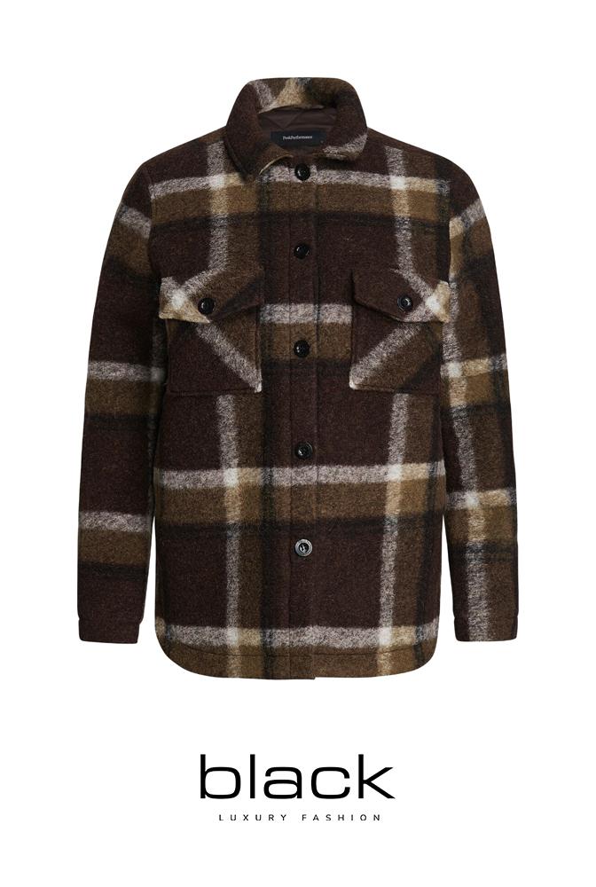 Peak Performance Kelly Wool Shirt Jacket-909 CHECK G75288030-1