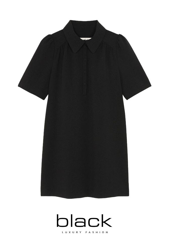 ba&sh Dress Mara 1H21MARA Noir-1