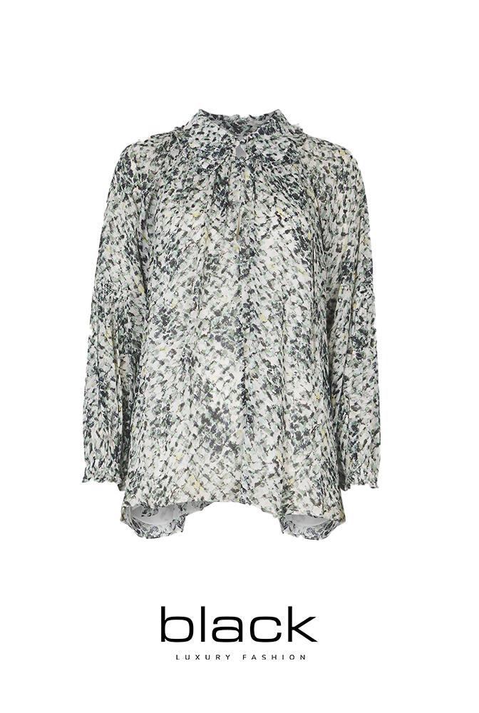 Lala Berlin 1216-WO-2039 blouse Basil-1