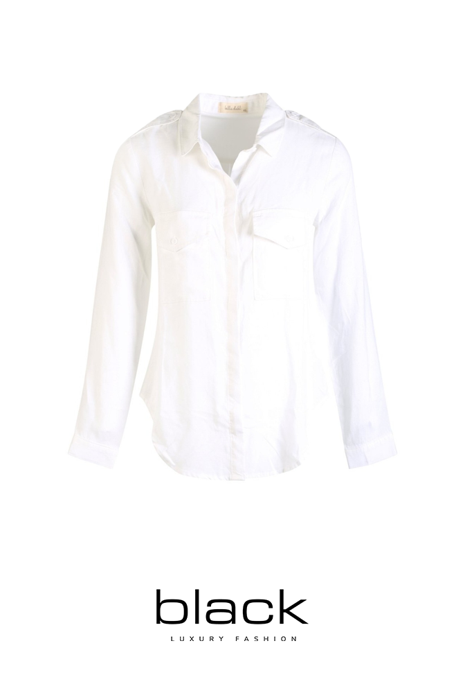 Blouse Two Pocket Classic Button Down-1
