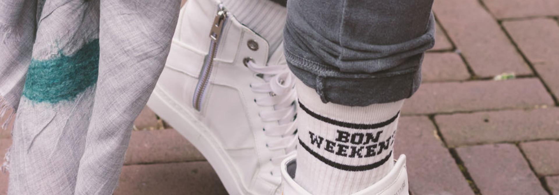 Tennis Socks Bonne Weekend
