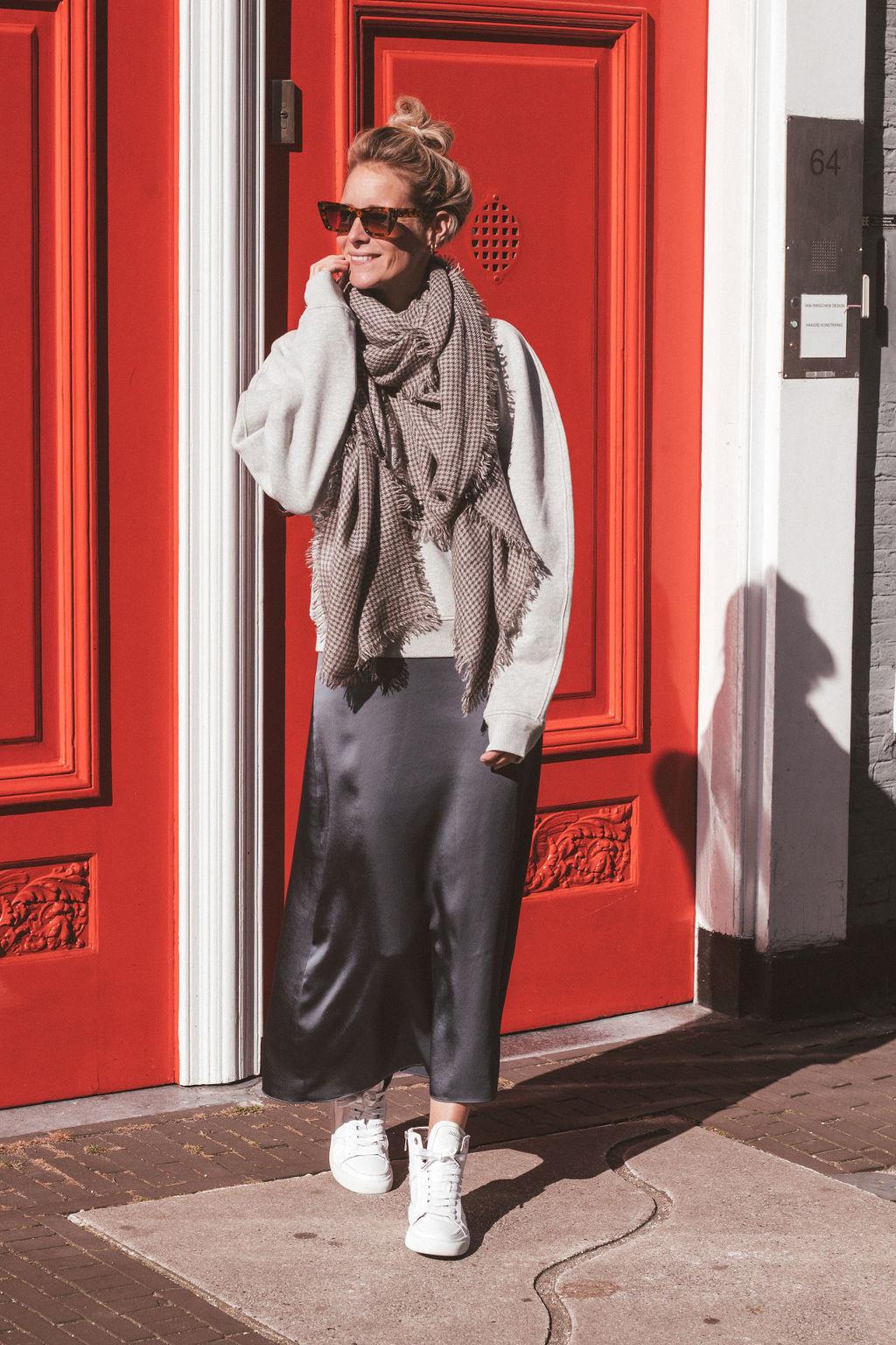 Draped Slip Skirt-1