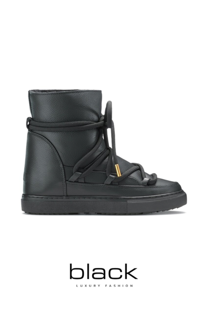 Boots Full leather wedge black