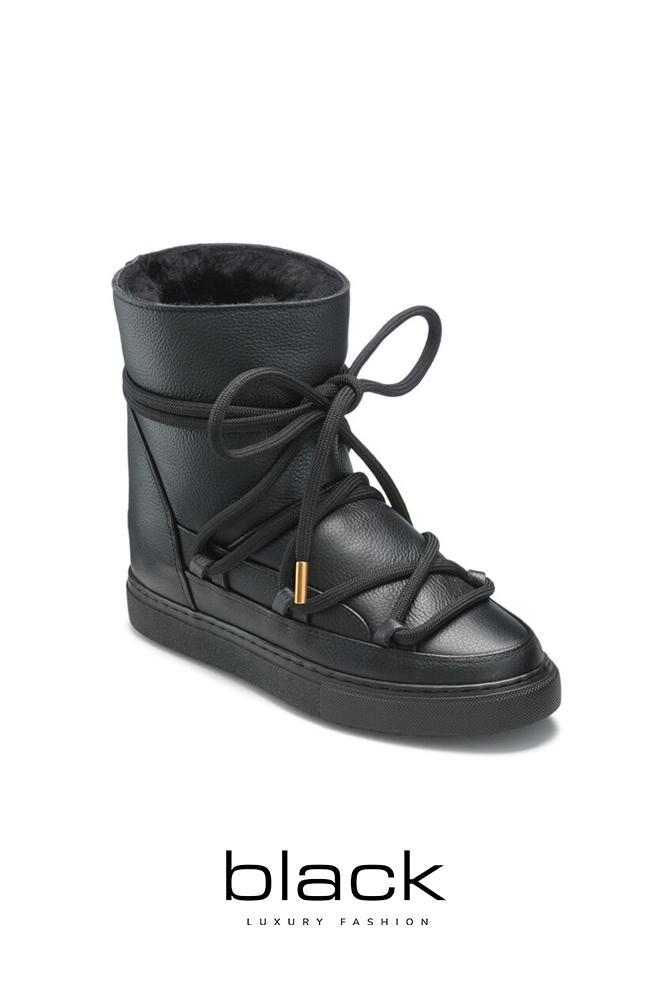 Boots Full leather wedge black-2