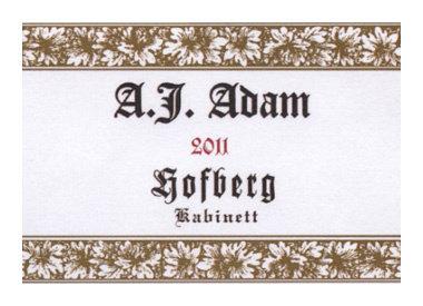 Weingut A.J. Adam, Neumagen-Dhron, Moezel