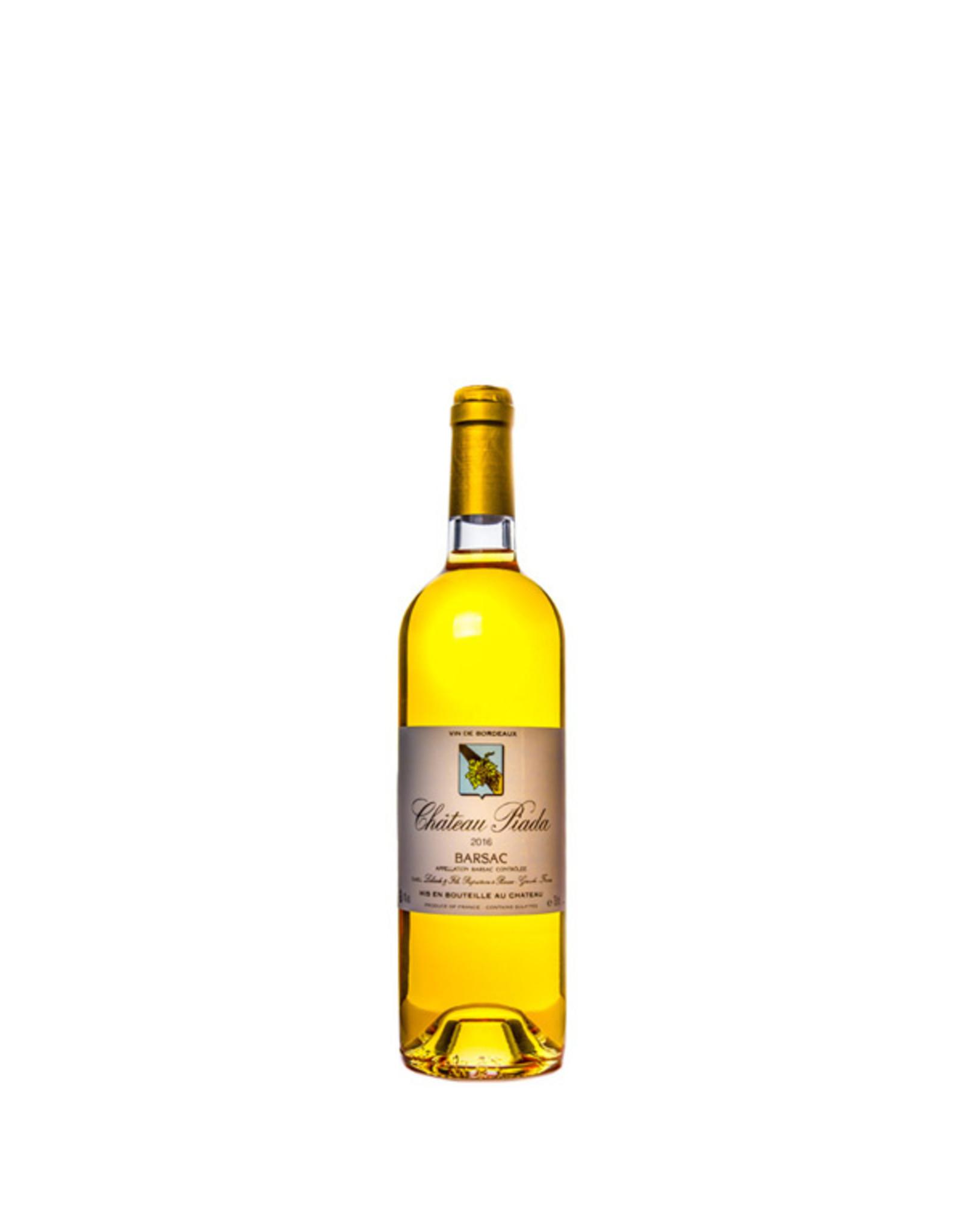 Piada, Sauternes Chateau Piada 2016 halve fles