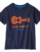 Patagonia Baby Live Simply Organic T-Shirt New Navy