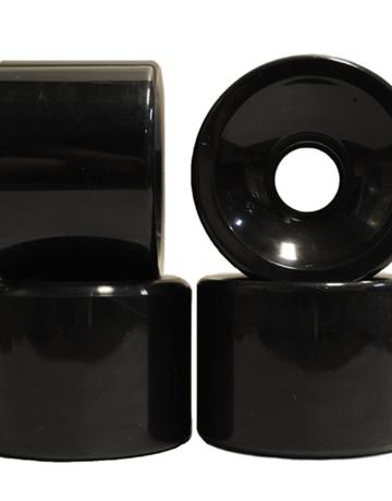 Radeckal Black 70mm race wheels, 70mm x 57mm, 78A durometer, Set of 4