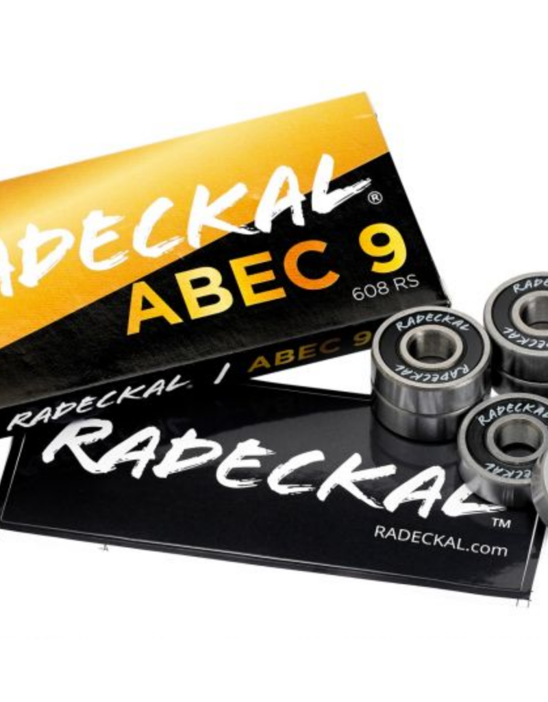 Radeckal Radeckal Bones Grade ABEC 9 Bearings With Black Rubber Ring