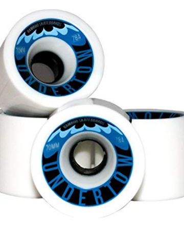 Radeckal Undertow, race wheels, 70mm x 57mm, 78A durometer, white color – Set