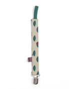 Froy & Dind PACIFIER CLIP CHERRY JERSEY COTTONø