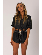 Sisstrevolution Knot a chance top – Charcoal