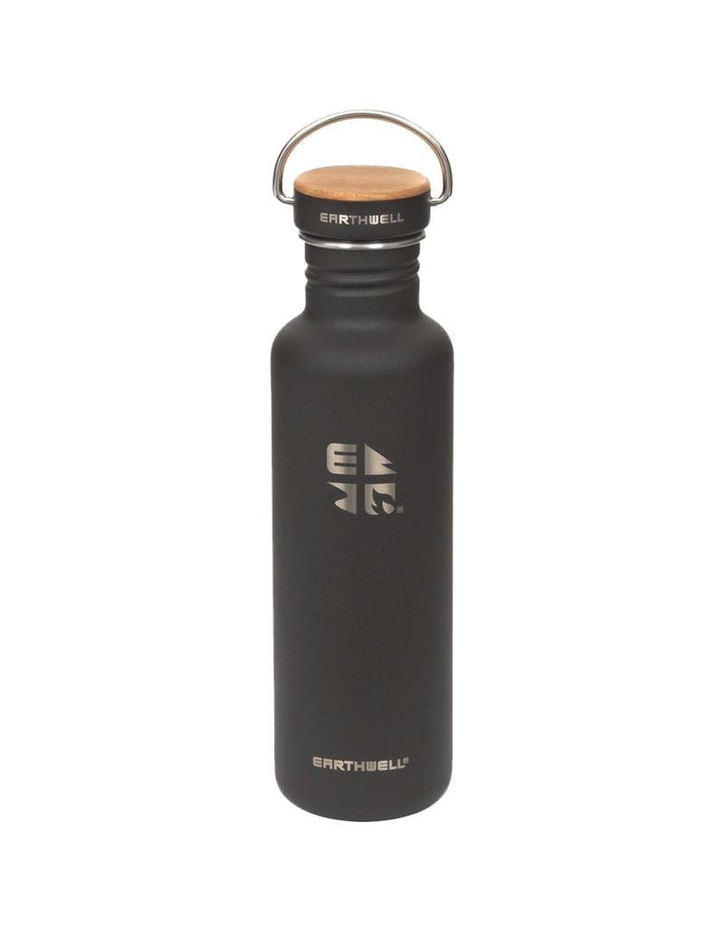 Earthwell 22oz Bottle 10 Volcanic Black Woodie Maple Cap