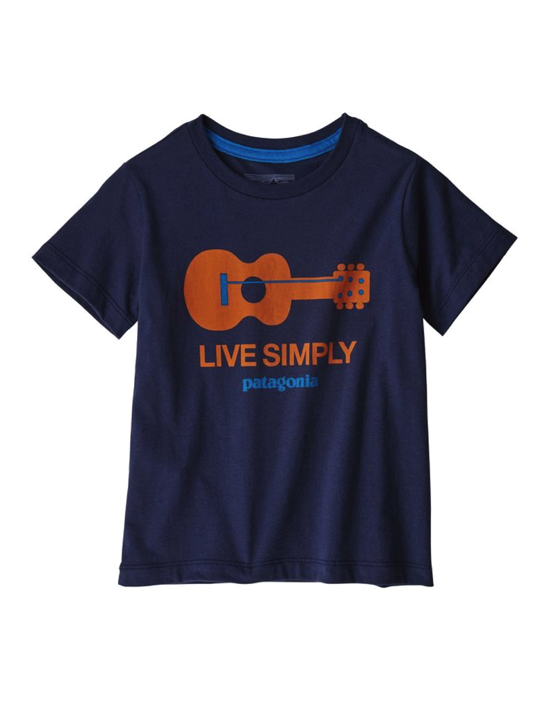 Patagonia Baby Live Simply Organic T-Shirt Live Simply Guitar: New Navy
