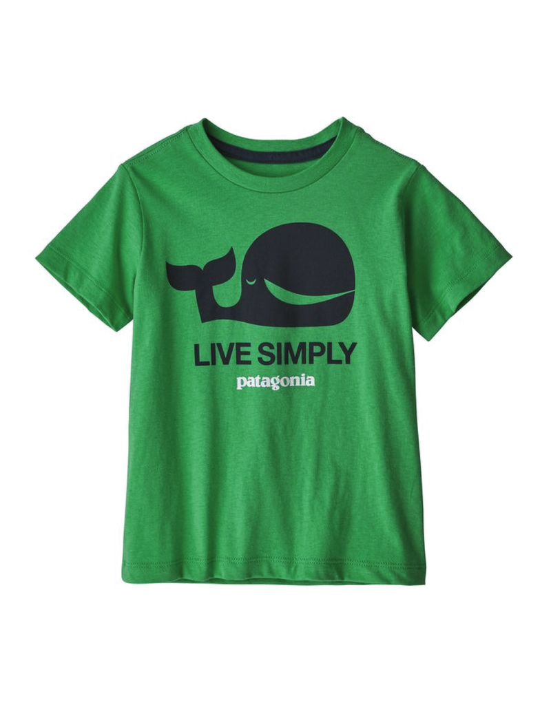 Patagonia Baby Live Simply Organic T-Shirt Live Simply Whale: Nettle Green