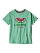 Patagonia Baby Live Simply Organic T-Shirt vjosa green