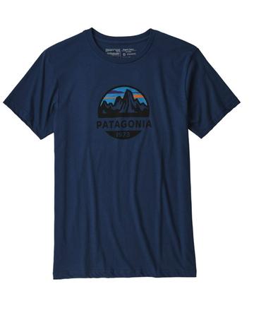 Patagonia M's Fitz Roy Scope Organic T-Shirt Stone Blue