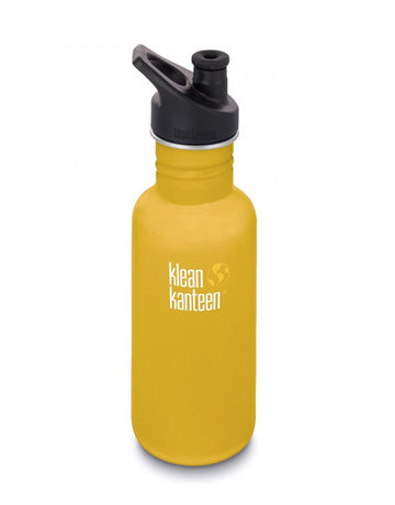 Klean Kanteen 18oz Classic/Sport Cap Lemon