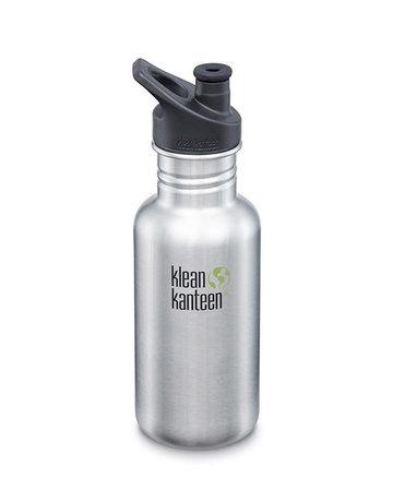 Klean Kanteen 18oz Classic/Sport Cap Stainless