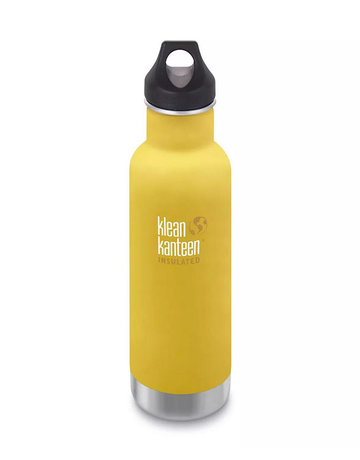 Klean Kanteen 20oz Classic Insulated/Loop cap Lemon