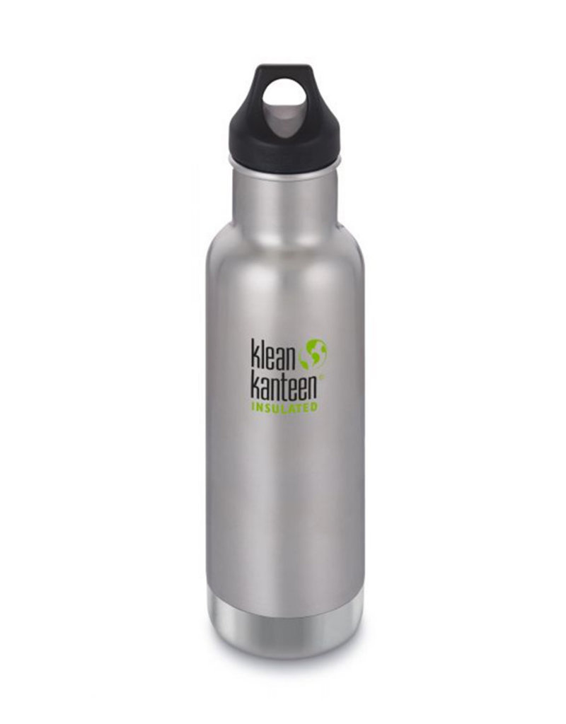 Klean Kanteen 20oz Classic Insulated/Loop cap Stainless