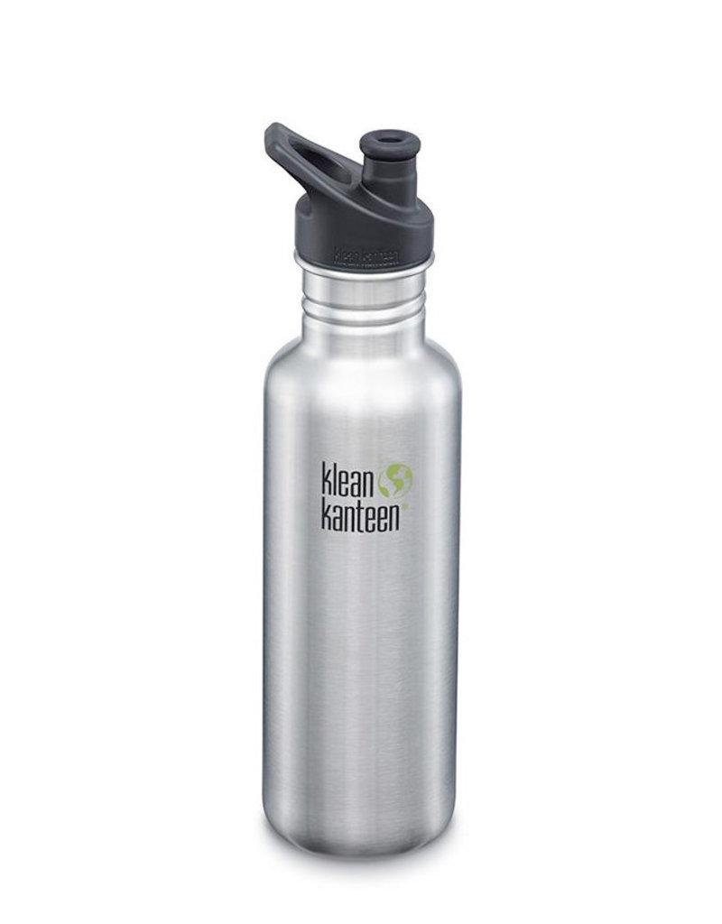 Klean Kanteen 27oz Classic/Sport Cap Stainless